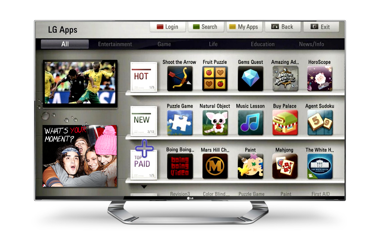 The LG Smart TV Portal